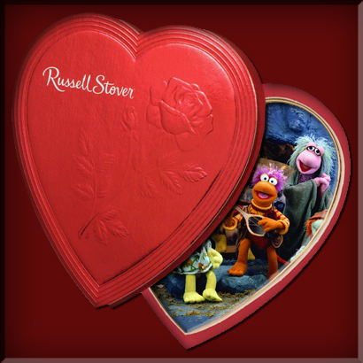 Russell Stover Fraggle Rock Heart Valentine's Day Chocolate