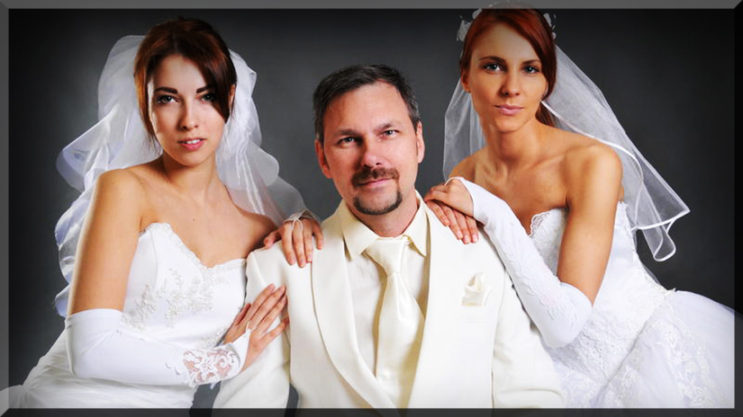 monogamy_monogamous_polygamy_polyamory_marriage_wedding_bride_brides_husband_wife_groom_cake_topper_man_two_three_mormon