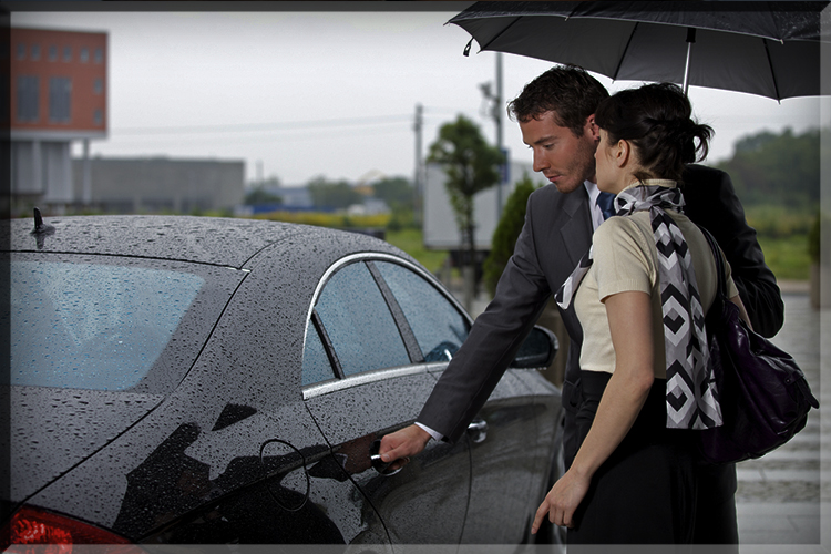 opening car door chivalry reverse man opens guy for lady woman gentleman girl umbrella rain